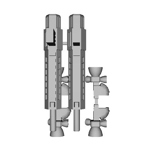 デスクトップアーミー用装備品「汎用ライフル&サイドブースター(2人分)」