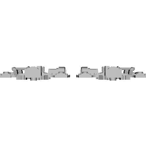 FS341タイプ1両分(1/80)台車枠
