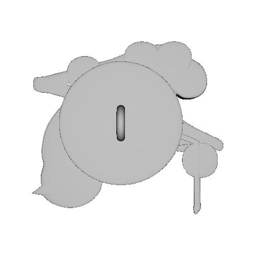 飾りボタン〜梅に鶯〜