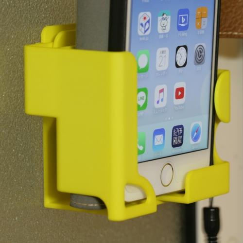 (横幅87mmまで)「plus専用!」 手帳型用スタンド+壁かけフック