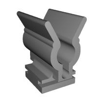 S30型フェアレディZ インスペクションリッド用クリップ中割れ型