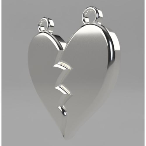 Heartbreak earring left parts.stl