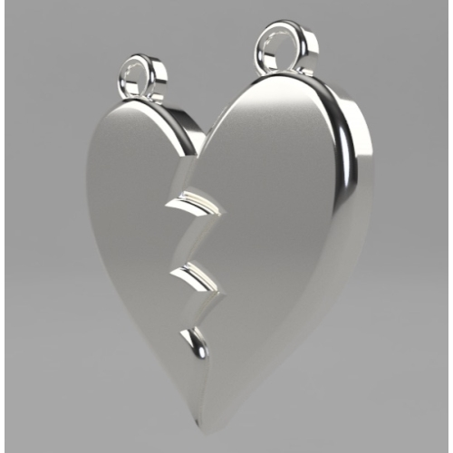 Heartbreak earring right parts.stl