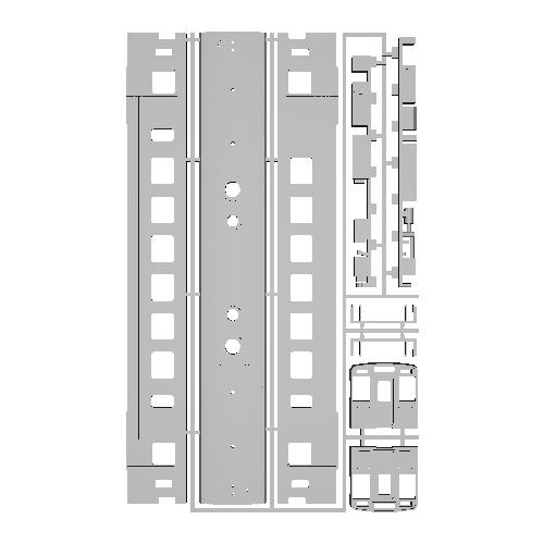 Nゲージ鉄道模型■3D-001 山陰銀色単行1両.stl