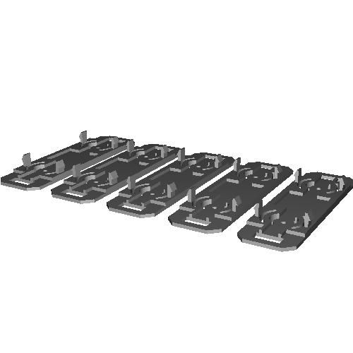 Bトレイン Nゲージビス止台車対応床板(5両分)