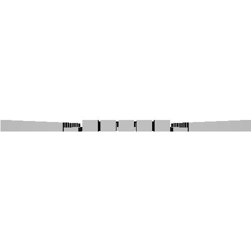 【PRH3D-0002】キハ261系1000番台 ヘッドマークシール貼付用プリズム(TOMIX用