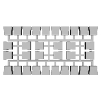 【PRH3D-0004】485系1000番台 ヘッドマークシール貼付用プリズム(TOMIX用