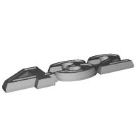 盗難防止ダミーエンブレム素材 「432」 ピンなし フェアレディZ432用 PS30型