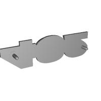 盗難防止ダミーエンブレム素材 「432」 ピンつき フェアレディZ432用 PS30型