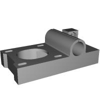 Atom-RC 用 NEMA17 規格ステッピングモーター対応Xモーター部パーツ