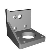 Atom-RC 用 NEMA17 規格ステッピングモーター対応Zモーター部右側パーツ