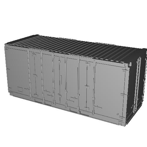 【鉄道模型】20ft 扉L字開き背高コンテナ 1個入り