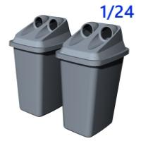 1/24容器回収容器:カエル型空き缶回収ボックス
