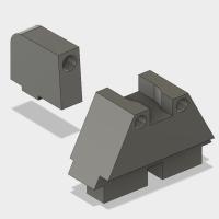 マルイ 電動ハンドガン G18C RMRカットスライド用フロント・リアサイト