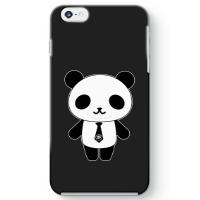 パンダ部長iPhone6 Plusケース ブラック