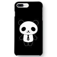 パンダ部長iPhone7 plusケース ブラック