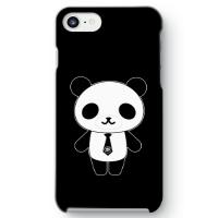 パンダ部長iPhone7ケース ブラック