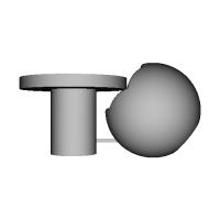 H LEVEL-D>25mm球体変換アダプター