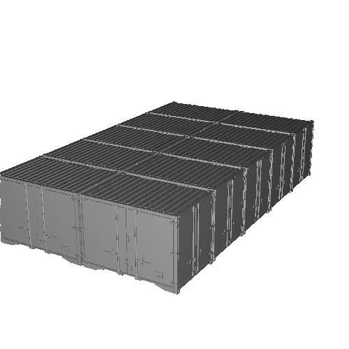 12ft L字開き背高コンテナ 前期・後期5個ずつ 10個入りセット