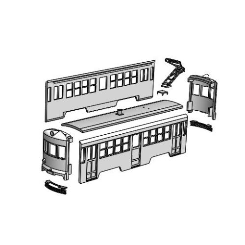 (Nゲージ)名古屋鉄道(名鉄) モ580形タイプ 組立てキット