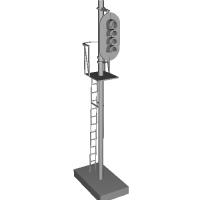 Nゲージ鉄道模型サイズ・ダミー4灯信号機