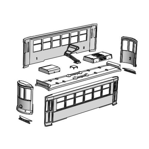 (Nゲージ)リスボン 路面電車風 組立てキット