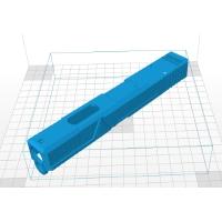 電動ハンドガン グロック18C用カスタムスライドAgencyタイプ