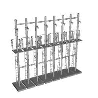 Nゲージ用4灯信号機付属品一体成形版(8本セット)