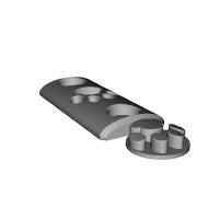 URX3.1用 M-LOKも可 ネジ2穴 5.5cm  肉球1個付き 2.1.stl