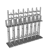 Nゲージ用信号機付属品キット一式8本セット(第2次改良品)