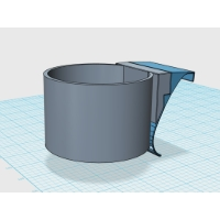 ドリンクホルダーアダプタ(シングルタイプ-2) DJ-DEMIO用:カラー造形・磨き対応