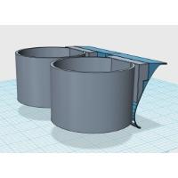 ドリンクホルダーアダプタ(ツインタイプ-2) DJ-DEMIO用:カラー造形・磨き対応