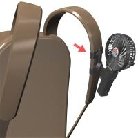 リュックサックに扇風機「抱っこファン」をつけるためのアーム(帯幅:6cm、絵柄:ケリュケイオン)