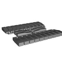 【PRH3D-0008】キハ183系100番台 ヘッドマークシール貼付用プリズム(TOMIX用