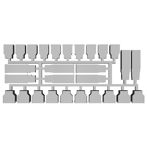 【PRH3D-0009】キハ183系 ヘッドマークシール貼付用プリズム3種セット(TOMIX用