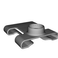 【モデリング用データ】 ベルトやリュックに扇風機「抱っこファン」をつけるためのアーム