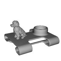 ベルトやリュックに扇風機「抱っこファン」をつけるためのアーム(帯幅:6cm、絵柄:イヌ)