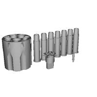 CROWN S&W M19_M66_M586_M686 Gas Gun Parts SET
