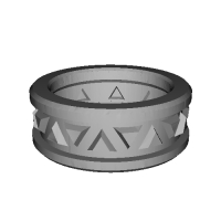 指輪 トリリアント▲▼ 8号