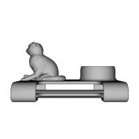 ベルト(4cm以下)リュック(帯幅6cm)に扇風機「抱っこファン」をつける部品(ネコ)