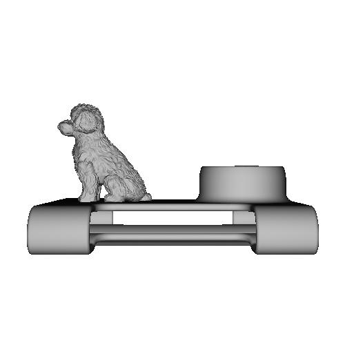 ベルト(4cm以下)リュック(帯幅6cm)に扇風機「抱っこファン」をつける部品(イヌ)