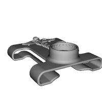 ベルト(4cm以下)リュック(帯幅6cm)に扇風機「抱っこファン」をつける部品(ケリュケイオン)