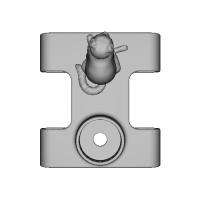 ベルト(3cm以下)リュック(帯幅6cm)に扇風機「抱っこファン」をつける部品(ネコ)