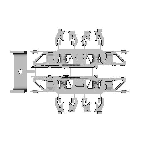 1/24スケール 日車D-14タイプ 台車枠 Gゲージを想定