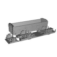 Nゲージ(1/150) 鉄道省 三軸無蓋車 トキ900