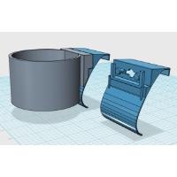 ドリンクホルダーアダプタ(シングルタイプ-2) DJ-DEMIO用 2個セット:カラー造形対応