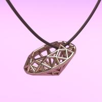 線材で構成したオーバル・ブリリアントカットのダイヤモンド。ネックレスなどのジュエリーにどうぞ!
