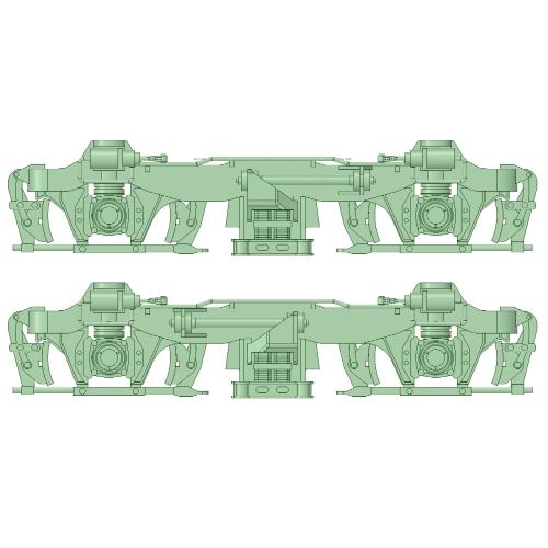 FS-10台車 後期型 5両分【武蔵模型工房 Nゲージ 鉄道模型】