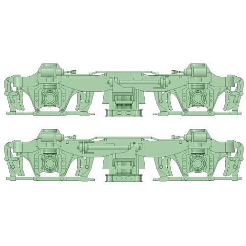 KH-20台車 後期型 5両分【武蔵模型工房 Nゲージ 鉄道模型】