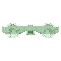 TRF-50台車 4両分【武蔵模型工房 Nゲージ 鉄道模型】